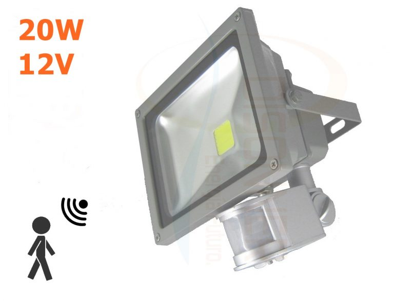foco 20w 12v con sensor